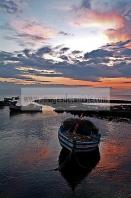 djerba;ile;jerba;sidi;jemmour;barque;bateau;peche;pecheur;mer;ciel;nuage;soleil;coucher;de;soleil;