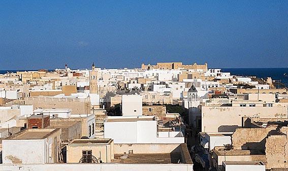 mahdia;architecture;musulmane;medina;maison;Mosquee;Mosqu�e;Minaret;rempart;porte;