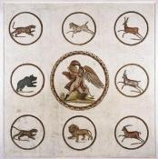 mosaique;antiquite;ganymede;sousse
