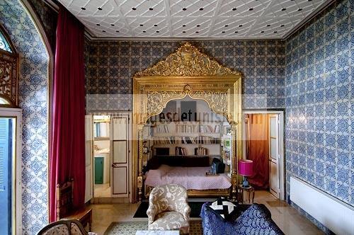 Palais b ji dans la medina de tunis architecture et for Architecture tunisienne maison