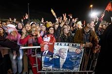 Ambiance de victoire à Nidaa Tounes