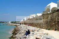 architecture;musulmane;medina;rempart;plage;hammamet;
