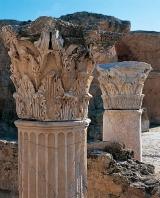 antonin;thermes;colonne;chapiteau;carthage;antiquité;romain