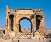 antiquite;architecture-antique;romain;Haidra;porte;arc